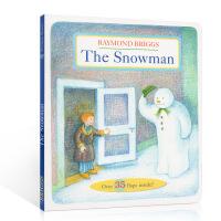 预售 The Snowman 英文原版 雪人 纸板书 趣味翻翻书 多达35个翻页 Raymond Briggs 荣获波士
