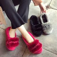 棉拖鞋女冬季包跟厚底韩版可爱室内孕妇产后保暖月子鞋家居家拖鞋
