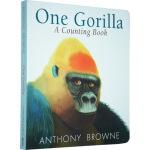 纸板书 One Gorilla A Counting Book 一只大猩猩数数书 Anthony Browne 安东尼