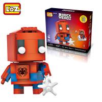 【当当自营】LOZ俐智mini颗粒积木漫威英雄联盟系列创意拼装玩具 蜘蛛侠Q版1408