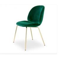 北欧铁艺甲壳虫餐椅休闲简约家用电脑椅酒店咖啡厅椅会议室办公椅