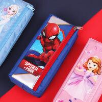 笔袋文具盒女 小学生笔袋简约迪士尼笔袋可爱卡通公主笔袋ins大容量文具袋简约钢铁侠文具袋奖品创意网红笔袋