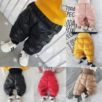 婴幼儿羽绒裤宝宝冬季保暖鸭绒羽绒高腰长裤可开档冬天外出0-1岁
