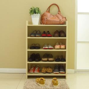 美达斯 鞋架 简易组合鞋架女鞋 门厅玄关简约五层木质鞋架 置物收纳柜
