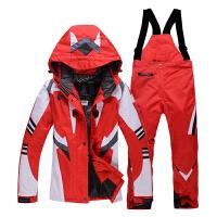 户外滑雪服套装情侣款 冬季防水单双板加厚韩版滑雪衣裤男女新品