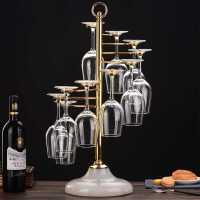 【满减优惠】创意红酒架轻奢高脚杯架欧式葡萄酒杯架子倒挂吊杯架红酒杯架家用