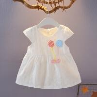 女宝宝连衣裙无袖夏装百天新生儿韩版棉布裙子0-1-2-3岁婴儿衣服