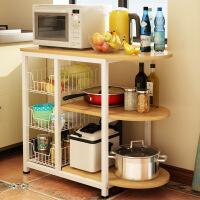 厨房置物架 微波炉烤箱置物架厨房落地电器层架碗柜储物层架