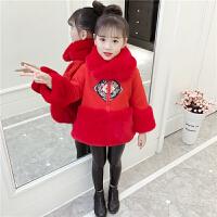 冬装儿童过年喜庆衣服中国风童装拜年服宝宝女汉服女童唐装