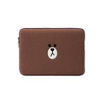 苹果macbookpro笔记本air13内胆12可爱15寸布朗熊小米电脑包14女