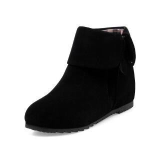 ELEISE美国艾蕾莎新品168-A101-a韩版磨砂绒面内增高女士短靴