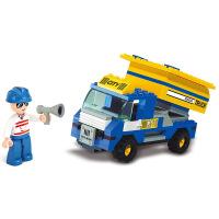 【当当自营】小鲁班模拟城市系列儿童益智拼装积木玩具 垃圾运载车M38-B300