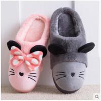 棉拖鞋女包跟情侣厚底冬季毛毛可爱卡通儿童居家室内保暖月子棉鞋