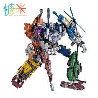 糖米正版合金变形玩具金刚5加大黄蜂混天合体汽车机器人模型手办