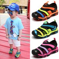 童凉鞋中大童男童包头软底儿童小童夏季小孩学生童鞋