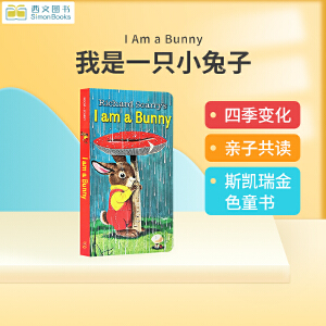 包邮进口英文原版正版 I Am a Bunny 我是小兔子 Little Golden Book金色童书系列纸板书Richard Scarry斯凯瑞儿童英语启蒙早教绘本0-2-3-4岁春夏秋冬四季