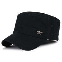 帽子男士秋冬季保暖韩版平顶帽户外遮阳帽全棉鸭舌帽军帽