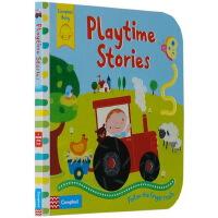 英文原版 Playtime Stories Follow the Finger Trails 儿童启蒙纸板触摸翻翻书