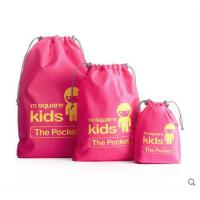 户外手提袋儿童束口袋 家居旅行储物袋束口袋套装多彩收纳包收纳袋