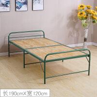 竹床折叠床单人床1.2米竹条床简易床加固办公室午休床家用木