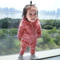 婴儿衣服春6月0岁宝宝新生儿上衣秋冬季开衫卫衣外套新年