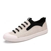 春季男鞋学生潮鞋休闲鞋青年帆布鞋脚蹬懒人板鞋老北京布鞋