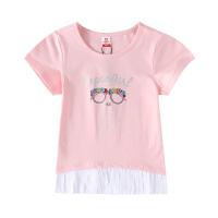 小猪班纳童装女童短袖t恤2020春夏新款中大童圆领针织衫卡通纯棉