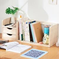 家逸桌面书架实木桌面置物架收纳储物架