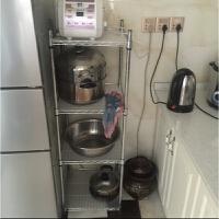 厨房储物架置物架正方形收纳架整理架四层架不锈钢色锅架盆架菜架