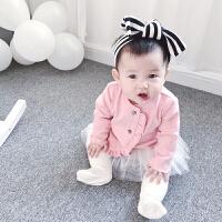 蓓莱乐女童装婴儿春秋季开衫外套男宝宝新款6个月新生儿薄款外套