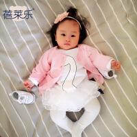 蓓莱乐婴儿宝宝新生儿春装季衣服0岁6个月针织毛衣开衫淑上衣春款