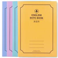 得力英语本EA540-01 A5英语本40张英语簿作业本英文本 学生用本