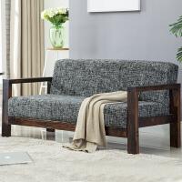 小沙发双人北欧单双三人沙发木小户型实省空间公寓美发店卧室服装