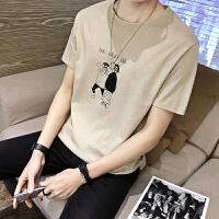 男士短袖t恤韩版潮流修身圆领半袖体恤打底衫修身学生夏季上衣服