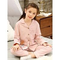 春秋季儿童睡衣女童纯棉长袖宝宝小孩亲子家居服套装秋冬薄款大童
