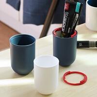 旅行洗漱杯便携牙刷盒漱口杯出差洗漱包男女旅行套装旅游用品收纳d