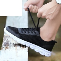 新品 男鞋夏季透气网鞋韩版板鞋包头男鞋学生透气网布鞋潮鞋男鞋子