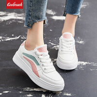【新春惊喜价】Coolmuch女士轻便百搭小白鞋校园女生松糕底休闲板鞋YCS12