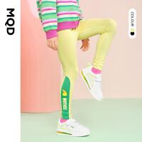 【2件3折价:87】MQD童装女童运动打底裤春装2021新款儿童速干透气冰爽弹力打底裤