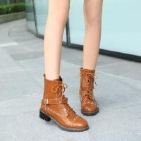 儿童马丁靴女孩韩版春秋女童靴子单靴大童鞋公主中筒短靴