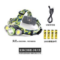 头灯T6强光充电超亮头戴式远射手电筒矿灯夜钓鱼LED工作灯