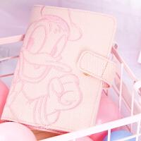 kinbor棉麻刺绣手帐A6记事本时尚日程手账本文具笔记本子 迪士尼加油鸭DTB61120