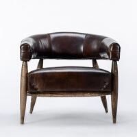 奇居良品 美式利来国际ag手机版 穆迪进口头层牛皮单人坐椅单人沙发
