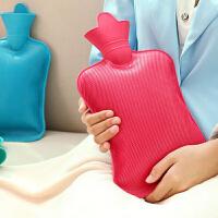 热水袋怀旧充水热水袋 冲水热水袋 大号热水袋 加厚橡胶注水暖水袋 大号颜色随机热水袋