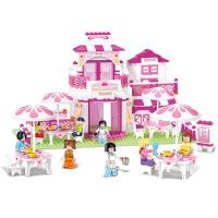 【当当自营】小鲁班粉色梦想女孩系列儿童益智拼装积木玩具 浪漫餐厅M38-B0150