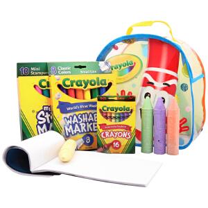 当当自营Crayola 绘儿乐 小小画家旅行背包套装 04-5350
