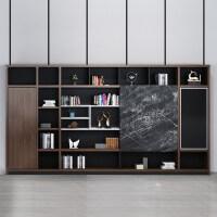 办公室家具背景柜文件柜木质壁柜资料柜储物柜靠墙书柜展示柜子 400mm