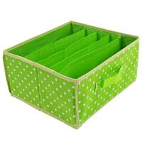 卡秀点点收纳-五格无盖多用收纳箱 绿色