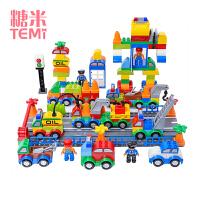 糖米 城市警察积木玩具益智力拼装汽车女孩男孩子3-6周岁生日礼物