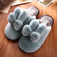 棉拖鞋女冬季韩版可爱室内牛筋厚底家居家冬天情侣月子家用毛拖鞋